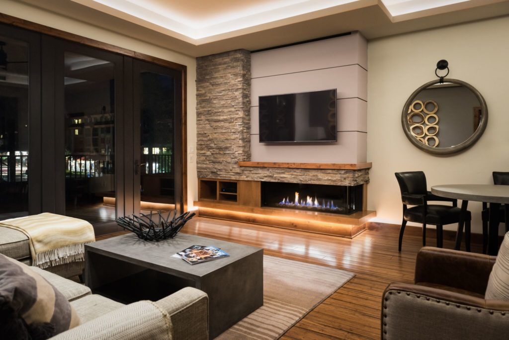 A 130 Right Sided Fireplace