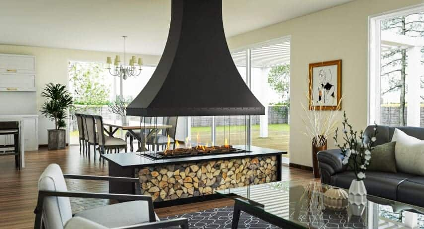 Fireplace with Decorative Hood