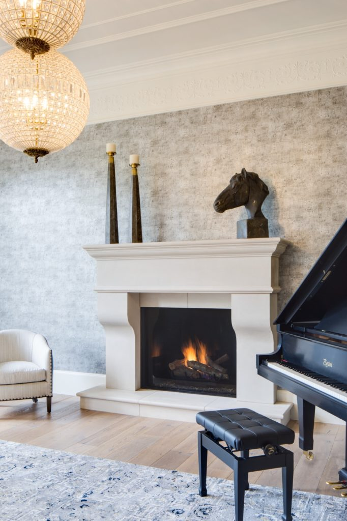 Traditional 110 Fireplace Featuring a Classic