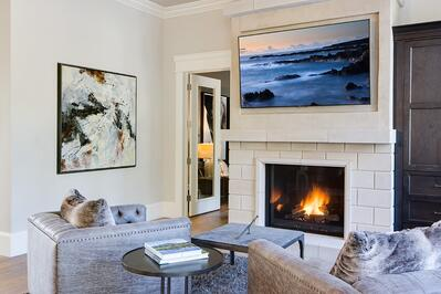 A Traditional 110 Fireplace with All the Modern Conveniences
